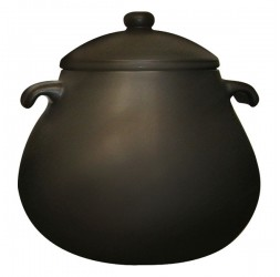 Heat-Resistant Earthen Pot Premium Small Rim Series Capacity: 11.0-Litre